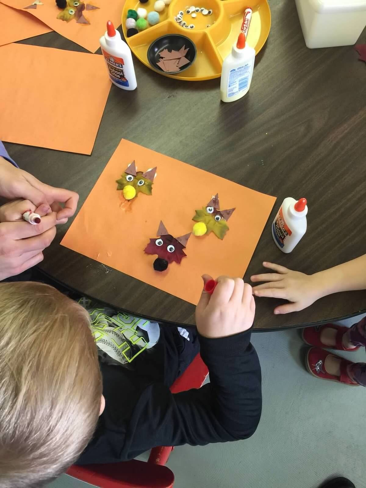 Children learning arts and crafts