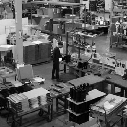 Manufacturing floor from above