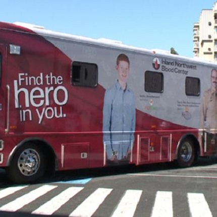 Blood Center bus