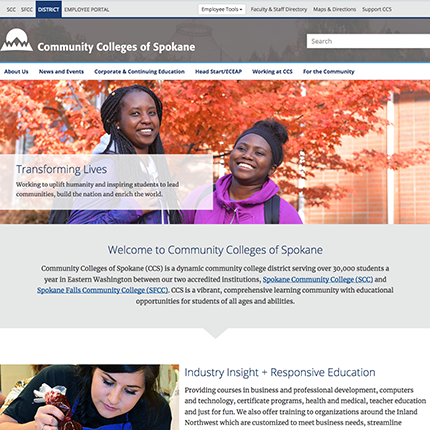 CCS Website Homepage