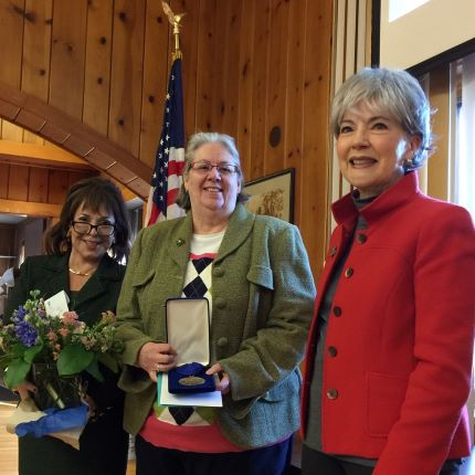 Patty Allen receives recognition from CCS Chancellor and Trustee Board Chair