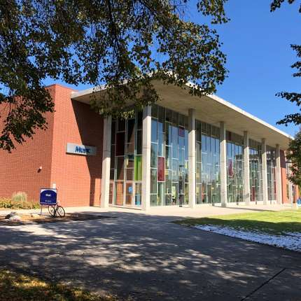 The music building at Spokane falls community college