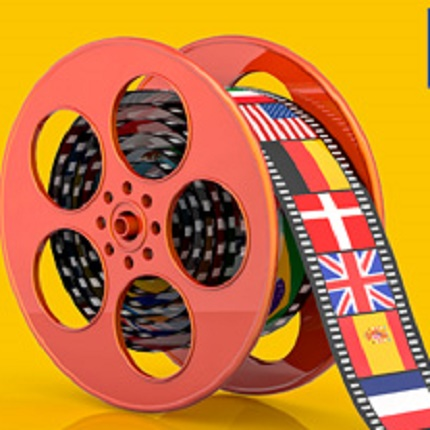 Film reel with various flags